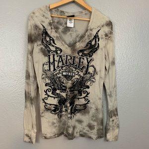 Harley Davidson Long Sleeve Velvet Graphic T Shirt